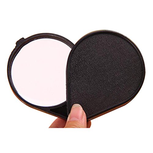 ZHOUBA Folding 10x Mini Pocket Jewelry Magnifier Reading Magnifying Loupe Glass Lens (Black) from ZHOUBA