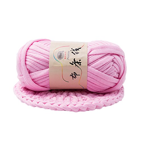 ZHOUBA Hand-Knit Woven Thread Thick Basket Blanket Braided DIY Crochet Cloth Fancy Yarn (Light Pink) from ZHOUBA