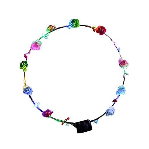 ZHOUBA LED Light Garland Birthday Party Concert Headband Hair Accessories for Girls Women Multicolor from ZHOUBA