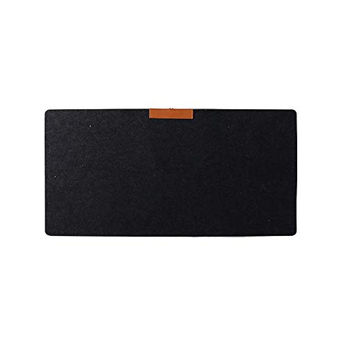 ZHOUBA Multi-Functional Large Felt Gaming Mouse Pad Office Desk Laptop Keyboard Mat Black from ZHOUBA