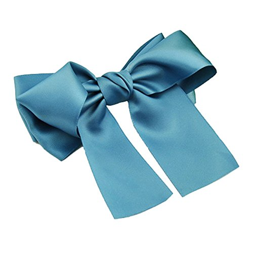 ZHOUBA Women Fashion Korean Satin Ribbon Bowknot Hair Clips Barrette Ponytail Holder - 1 from ZHOUBA