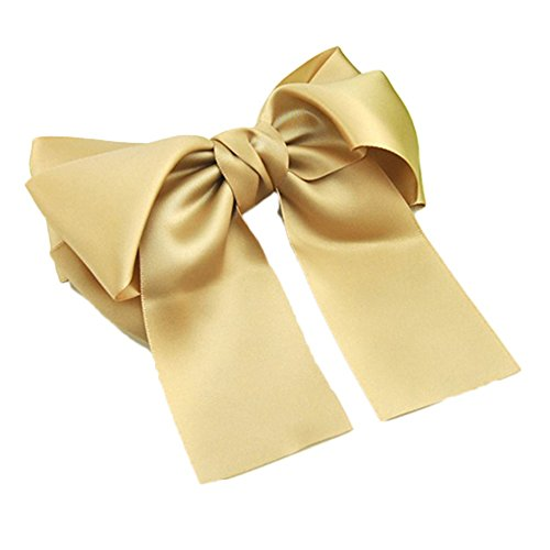 ZHOUBA Women Fashion Korean Satin Ribbon Bowknot Hair Clips Barrette Ponytail Holder - 2 from ZHOUBA