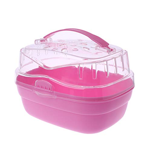 ZOOMY Hamster Carry Case Cage Pet Travel Outdoor Carrier Portable Go Out Box for Small Animal Guinea Pig-Pink from ZOOMY