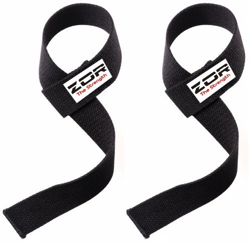 Power Hand Bar Straps Weight Lifting Straps Cotton Webbing Wrist Wraps Strengthen Training Workout Exercise Fitness Straps from ZOR