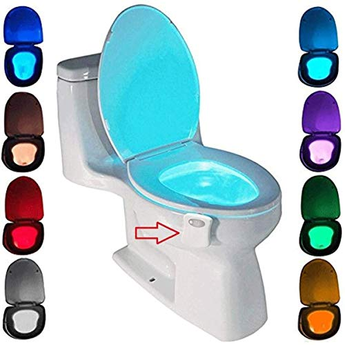 Toilet Night Light Motion Activated by ZSZT, Two Modes with 8 Color Changing, Sensor LED Washroom Night Light Fits Any Toilet from ZSZT