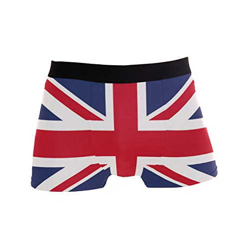 ZZKKO American Flag Maryland State Flag Mens Boxer Briefs Underwear Breathable Stretch Boxer Trunk with Pouch S-XL