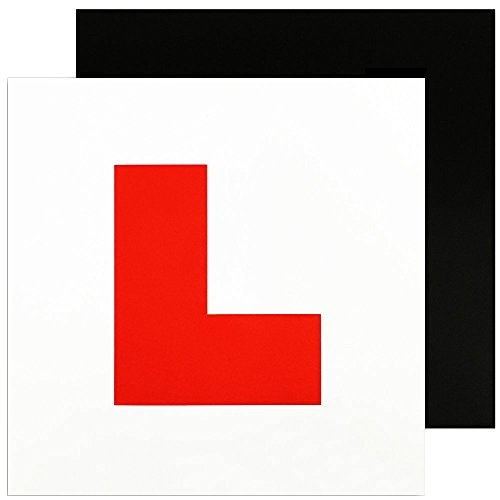 Zacro Fully Magnetic L Plates for New Drivers, 2 Pack of Learner Plates with Stronger Magnetism and Bigger Thickness from Zacro