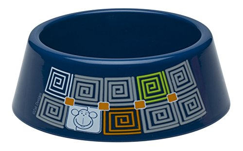 Zak! Designs Toddlerific Toddler Bowl with Blue Monkey, No-tip Wide Base, Break-resistant and BPA-free Plastic from Zak Designs