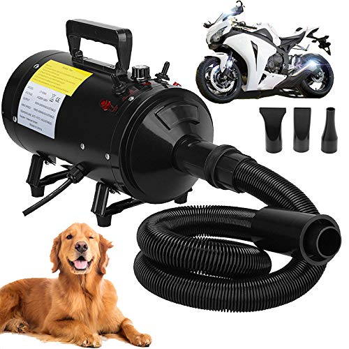 Motorcycle Power Dryer, Portable Car Dryer,Bike Dryer Blower&Blaster,Vechicle Dryer and Duster for Detailing,Pet Dog Grooming Dryer- Dry and Dust Inaccessible Areas with High Pressure Air Flow from ZanGe