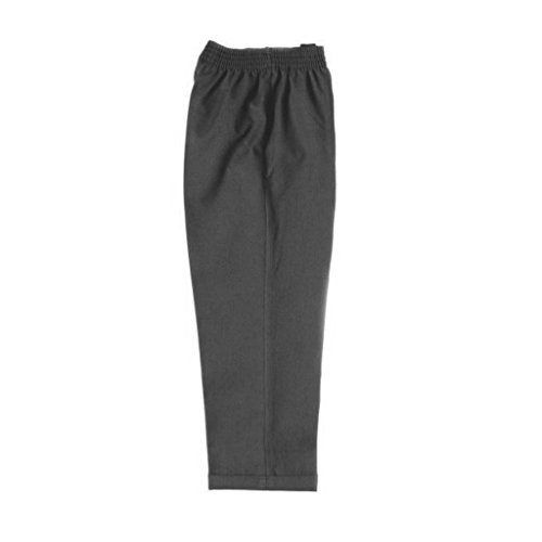 Pull Up Fully Elasticated School Trousers Grey Age 5-6 from Zeco
