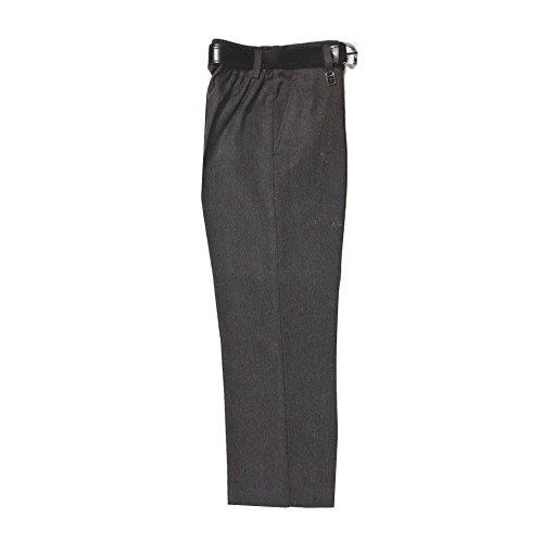 Zeco Half Elastic Sturdy Fit School Trousers, Black age 13-14. 28-36in W / 30in L 28-36in W / 30in L from Zeco
