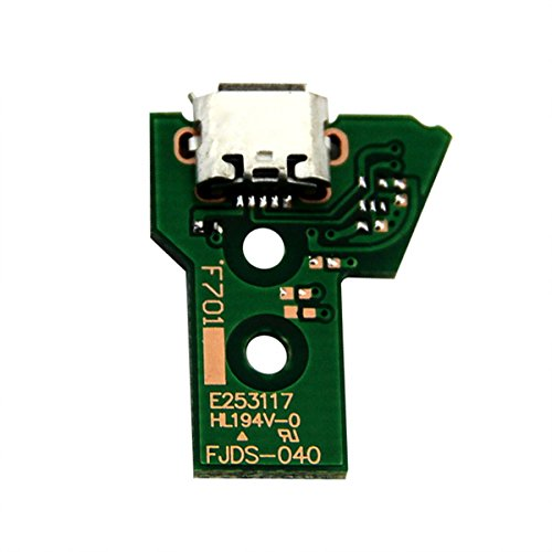 ZedLabz 12 pin V4 micro USB charging socket ic board for Sony PS4 Pro / Slim controllers JDS-040 from ZedLabz