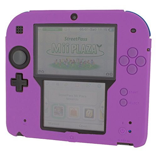 ZedLabz soft silicone gel protective cover rubber bumper case for Nintendo 2DS (Purple) from ZedLabz