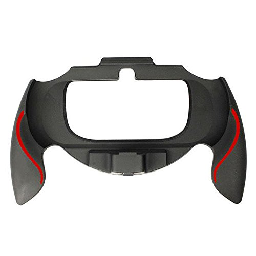 ZedLabz soft touch controller grip handle attachment for Sony PS Vita PSV 1000 - Black & red from ZedLabz