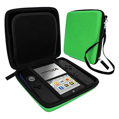 Zedlabz hard protective eva travel carry case for Nintendo 2DS with built in game storage - green from ZedLabz