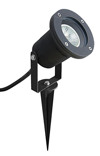10 x GU10 Outdoor Garden Spike Ground Mount or Watt Light IP65 Matt Black from Long Life Lamp Company