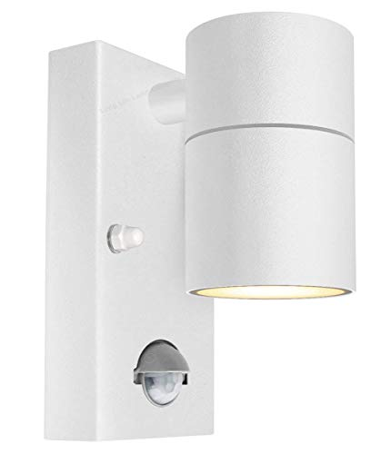 Long Life Lamp Company 4W LED Wall Light Outdoor PIR Motion Sensor Detector Waterproof Single Garden Security Spotlight ZLC057, Stainless Steel White from Long Life Lamp Company