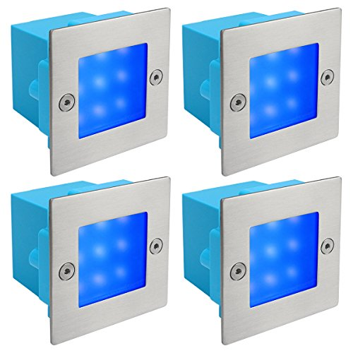 4 X Mini Brick Light LED Outdoor Step Light 70mm Square IP54 BLUE Recessed Wall Light  sc 1 st  Wunderstore & Lighting: Find Zenon Lighting Collection products online at ... azcodes.com