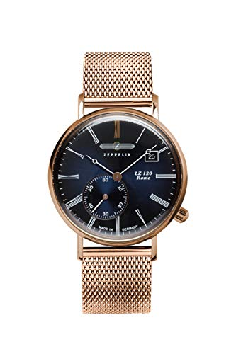 Zeppelin Women's Quartz Watch with Black Dial Analogue Display Quartz – One size – Blue/Rose from Zeppelin