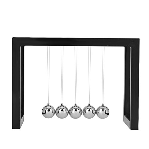 Zerodis Pendulum Balls Balance Balls Desk Decoration for Living Room Drawing Room and Desk Toy for Office(Black) from Zerodis