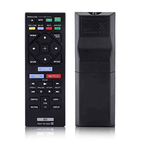 Universal Remote Control Replacement for Sony Blue Ray Player RMT-B126A, Blu-ray Player Remote Control for Sony from Zerone