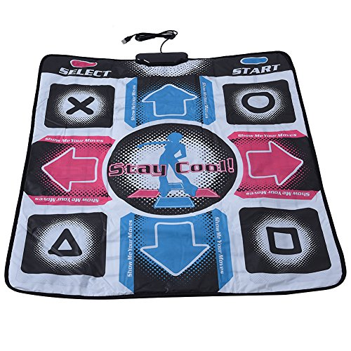 Zerone TV Dance Mat Non-Slip Dance Revolution DDR Dancing Pad Blanket for Microsoft Xbox 360 Game Windows 98/2000/ XP/ 7 OS with USB from Zerone