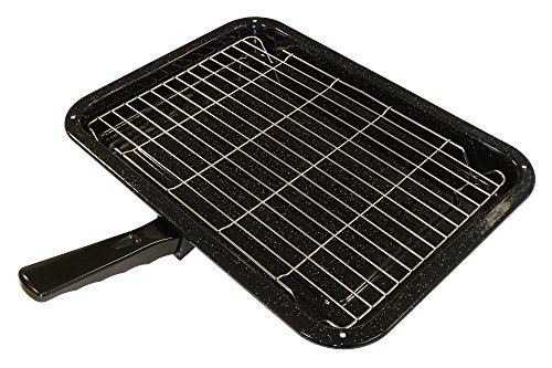 Durable Universal Oven Cooker Grill Pan Rack & Detachable Handle 380 x 280mm from Zinc Products