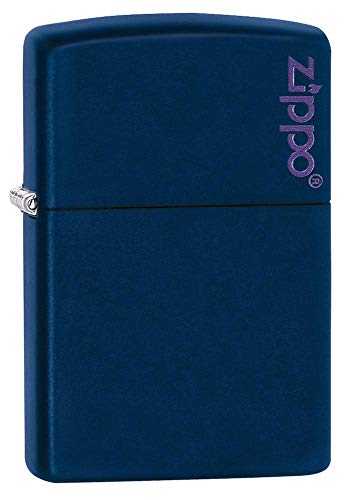 Zippo Windproof Lighter|Metal Long Lasting Zippo Lighter |Best with Zippo Lighter Fluid| Refillable Lighter|Perfect for Cigarettes Cigars Candles |Pocket Lighter Fire Starter |Classic Navy Matte Zippo from Zippo