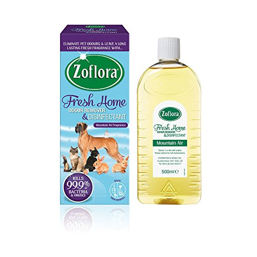 2 x ZOFLORA 500ML Fresh Home Odour Remover and Disinfectant Pets Home Kennels for Homes with Pets from Zoflora