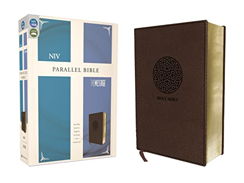 NIV, the Message, Parallel Bible, Leathersoft, Brown: Two Bible Versions Together for Study and Comparison from Zondervan