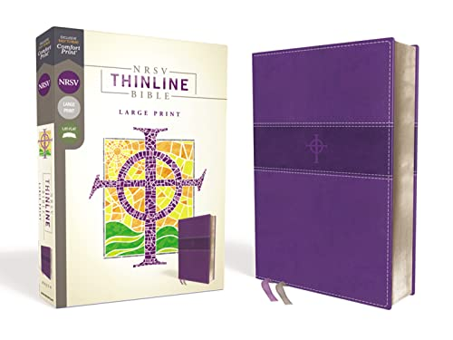 NRSV, Thinline Bible, Large Print, Leathersoft, Purple, Comfort Print from Zondervan