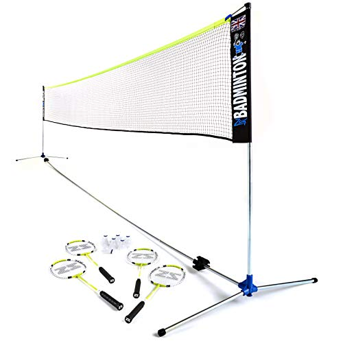 ZSIG Pro Badminton Set - 6m, Portable, Coaching Quality portable Net, with Badminton Rackets and Shuttles from Zsig