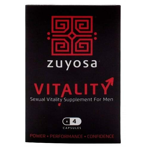 Zuyosa Sexual Vitality Supplement for Men Power Performance Confidence 4 Capsules, 30 g from Zuyosa