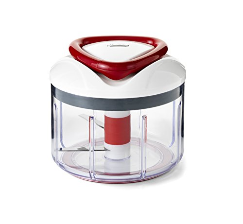 Zyliss EasyPull Manual Food Processor, 750 ml - White/Grey/Red from Zyliss