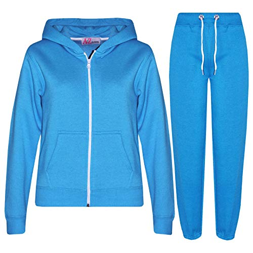 7320f9c4ade1f A2Z 4 Kids Kids Girls Boys Plain Tracksuit - T.S Plain Blue 5-6 from