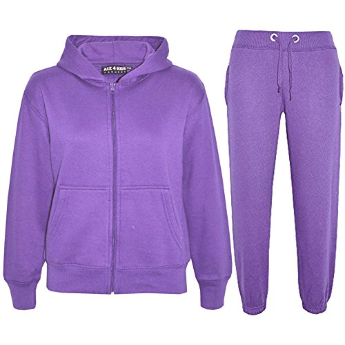 A2Z 4 Kids Kids Girls Boys Plain Tracksuit - T.S Plain Lilac 13 from a2z4kids