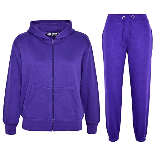 A2Z 4 Kids Kids Girls Boys Plain Tracksuit - T.S Plain Purple 2-3 from a2z4kids