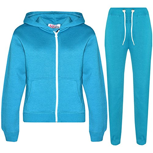 A2Z 4 Kids Kids Girls Boys Plain Tracksuit - T.S Plain Turquoise 3-4 from a2z4kids