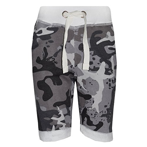 a2z4kids Boys Shorts Kids Fleece Chino Shorts - Boys Fleece Shorts Camo Charcoal 7-8 from a2z4kids