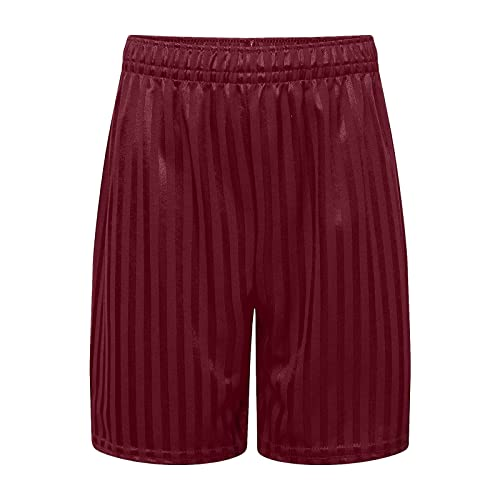 adam & eesa Boys Girls Unisex Shadow Stripe Gym Sports Games School PE Shorts Maroon from adam & eesa