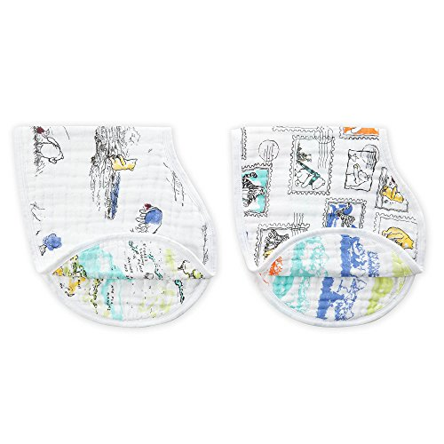 aden + anais Disney Baby Classic Burpy Bib (Winnie the Pooh, Pack of 2) from aden by aden + anais