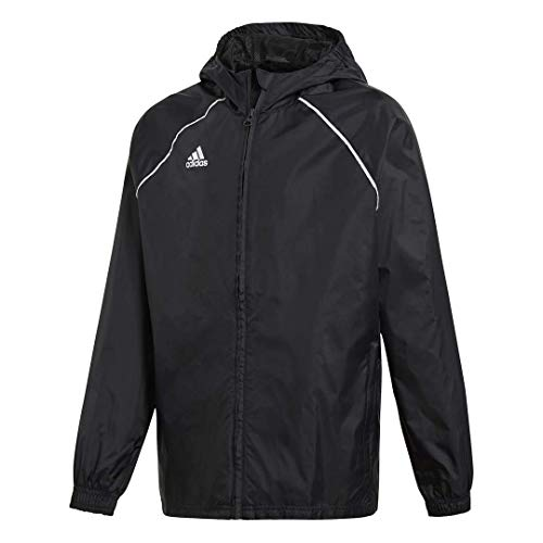 adidas Kid's Core 18 Rain Jacket, Black/White, Size 152 from adidas