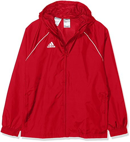 adidas Kid's Core 18 Rain Jacket, Power Red/White, Size 116 from adidas