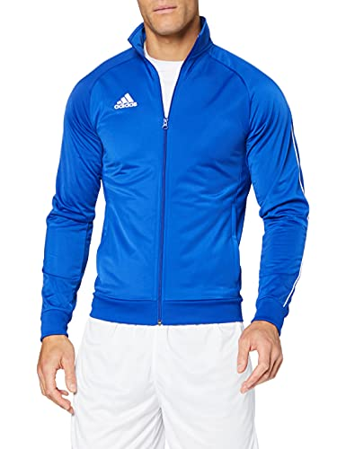 adidas Men's Core 18 Polyester Tracksuit Jacket, Bold Blue/White, X-Small from adidas
