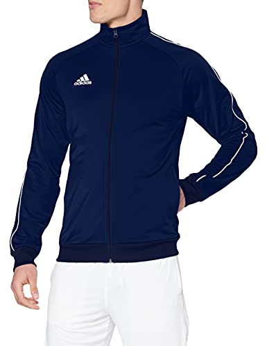 adidas Men's Core 18 Polyester Tracksuit Jacket, Dark Blue/White, 2X-Large from adidas