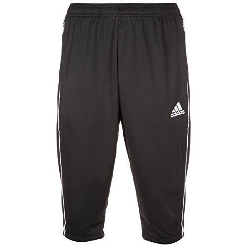 adidas Men's Core 18 3/4 Pants, Black/White, X-Large from adidas