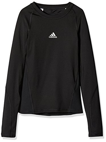 new arrival 68524 da79e adidas Kid s AlphaSkin Long Sleeve Tee, Black, Size 140 from adidas