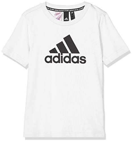 adidas Kid's Must Haves Badge of Sport Short Sleeve T-Shirt, White/Black, 164 (XL) from adidas