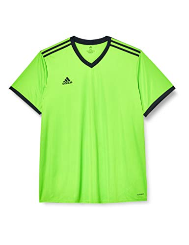adidas Men's Tabela 18 T-Shirt, Semi Solar Green/Black, Large from adidas