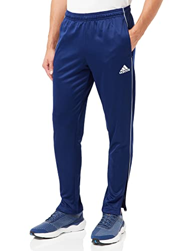 adidas Men's Core 18 Training Trousers, Dark Blue/White, X-Small from adidas